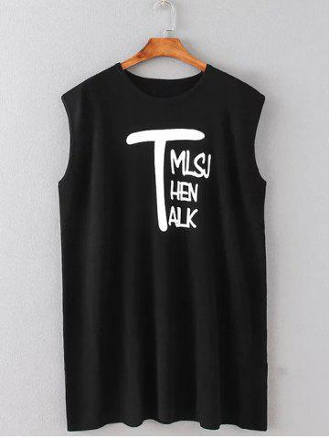 Sale Letter Print Mini Tank Dress