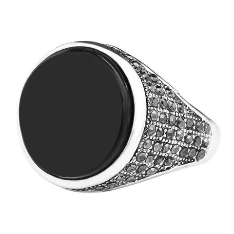 Fashion Round Rhinestone Ring
