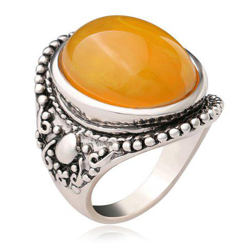 Outfits Oval Faux Canary Stone Ring