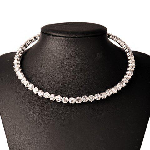 Store Faux Crystal Wedding Jewelry Torque