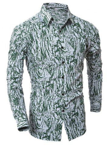 Fancy Camouflage Button Up Shirt