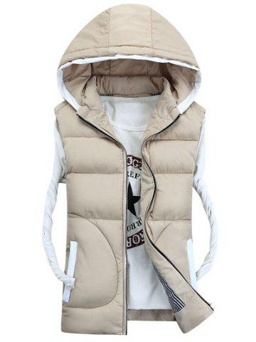 Store Hooded Thicken Zip-Up Down Waistcoat OFF-WHITE M