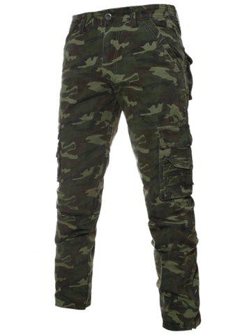 Store Camouflage Zipper Fly Pockets Cargo Bdu Pants