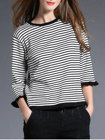 Sale Butterfly Sleeve Striped Knitwear