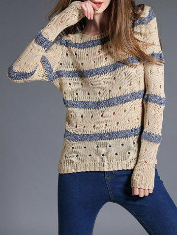 Outfits Fitting Cut Out Striped Knitwear