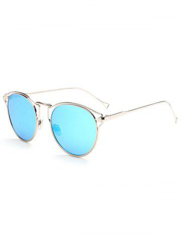 Unique Hipsters Hollow Out Arrow Oval Mirrored Sunglasses