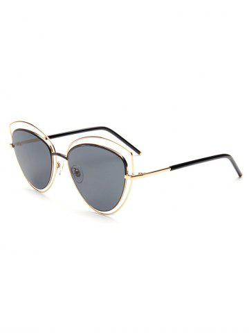 Fashion Hipsters Hollow Out Double Cat Eye Sunglasses