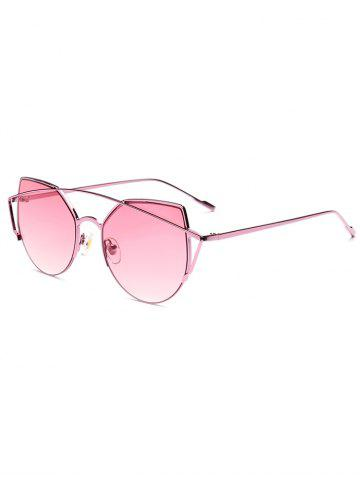 Store Hipsters Delicate Crossbar Irregular Cat Eye Sunglasses