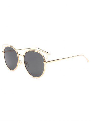 Cheap Hipsters Cut Out Metal Cat Eye Sunglasses