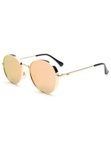 Shops Hipsters Chunky Metal Oval Mirrored Sunglasses