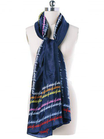 Affordable Autumn Scrawl Letters Scarf