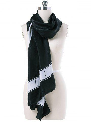 Outfit Autumn Film Tape Print Scarf