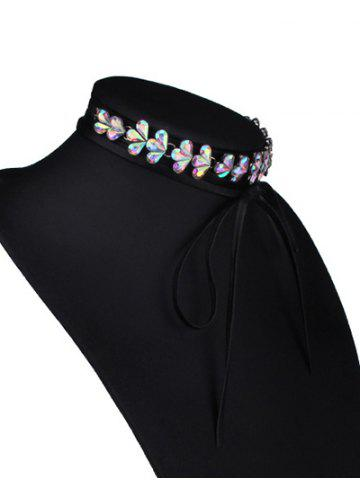 Discount Tiered Rhinestone Flower Choker Necklace - COLORMIX  Mobile