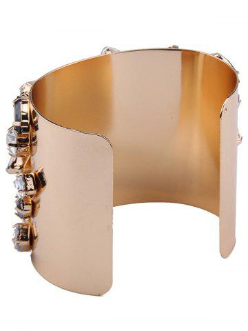Latest Curved Artificial Gem Cuff Bracelet - CHAMPAGNE  Mobile