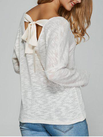 Outfit Tie Back Cut Out Blouse