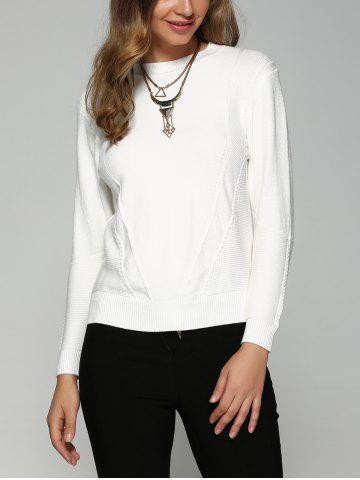 New Asymmetrical Side Slit Textured Sweater