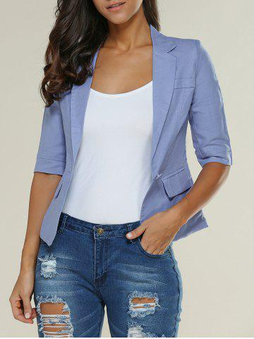 New 3/4 Sleeve One Button Breathable Blazer