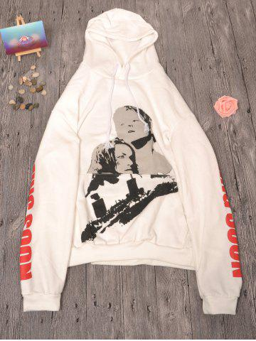Outfits Letter Print Drawstring Fleece Hoodie