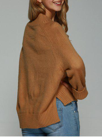 Buy High Low Slit Pullover Sweater