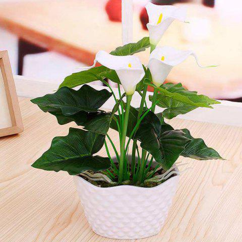 Trendy PU Real Touch Calla Artificial Flower Bonsai
