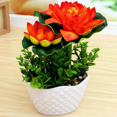 Store Living Room Office Lotus Artificial Flower Bonsai