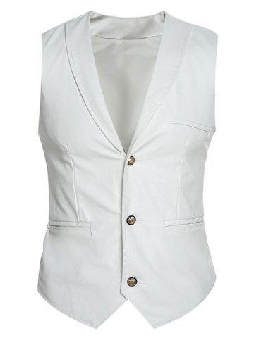 Hot Shawl Collar Slim Fit PU Vest