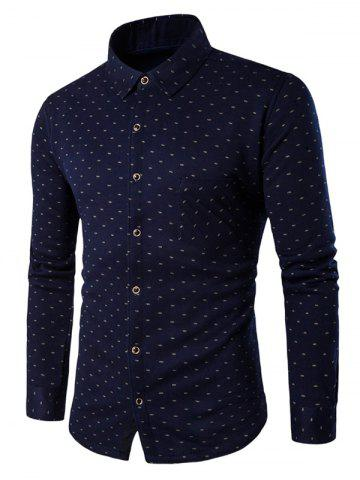 Sale All-Over Printed Thermal Shirt in Slim Fit