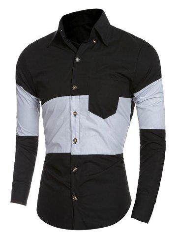 Shops Slim-Fit Color Block Shirt
