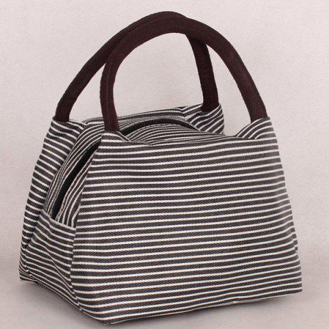 Store Nylon Pinstripe Color Splicing Tote Bag