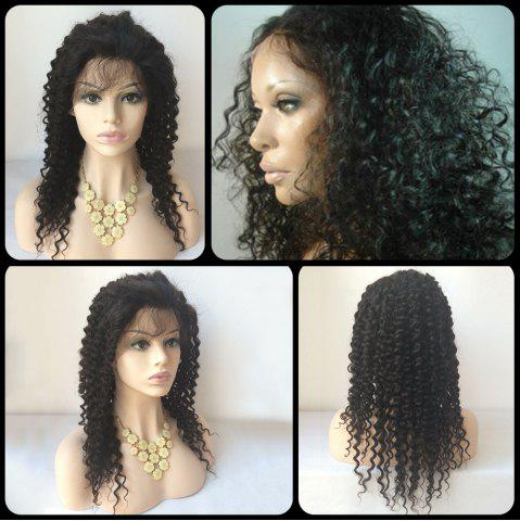 Latest Long Kinky Curly Lace Front Human Hair Wig