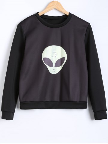 Outfit Round Neck Pullover Sweatshirt