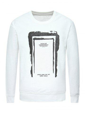 Latest Crew Neck Graphic Print Sweatshirt