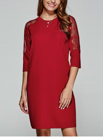 Best 3/4 Sleeves Laciness Knitted Dress