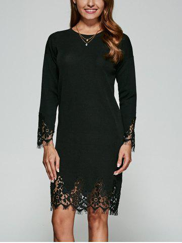 Shops Guipure Lace Knitted Dress