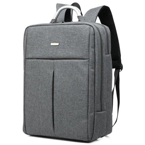 Unique Metallic Nylon Zip Backpack - GRAY  Mobile
