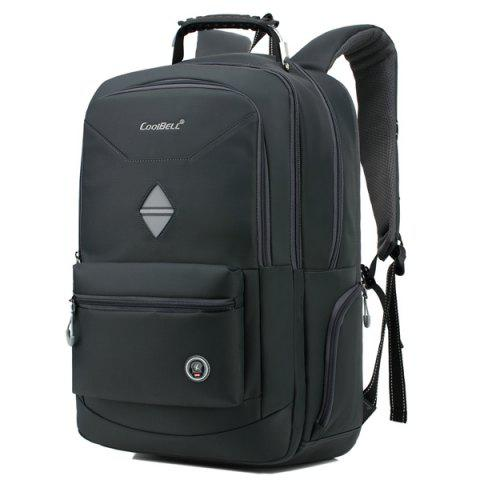 Outfits Zippers Geometric Pattern Nylon Backpack - DEEP GRAY  Mobile