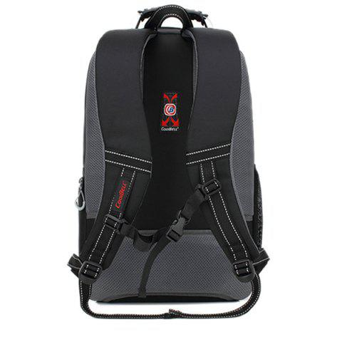 Chic Zippers Geometric Pattern Nylon Backpack - BLACK  Mobile