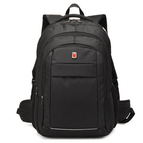 Store Dark Colour Metal Zippers Backpack