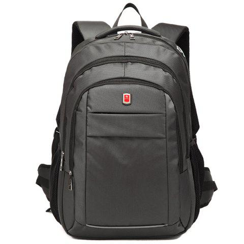 Unique Dark Colour Metal Zippers Backpack - DEEP GRAY  Mobile