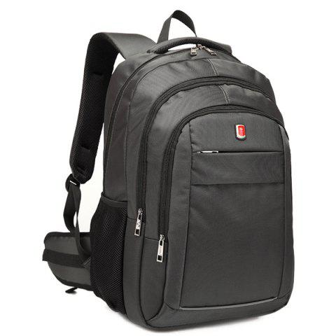 Chic Dark Colour Metal Zippers Backpack - DEEP GRAY  Mobile