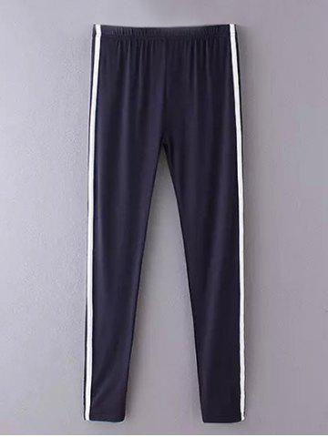 Affordable Skinny Side Stripe Running Pants CADETBLUE ONE SIZE