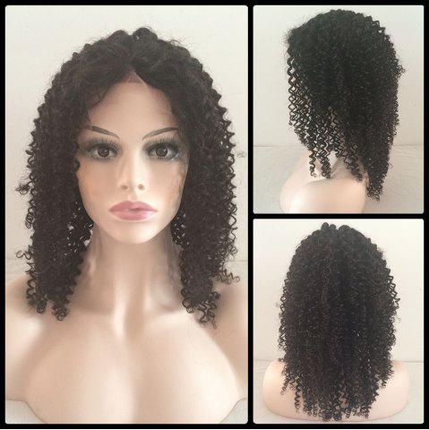 Buy Medium Kinky Curly Middle Parting Lace Front Human Hair Wig
