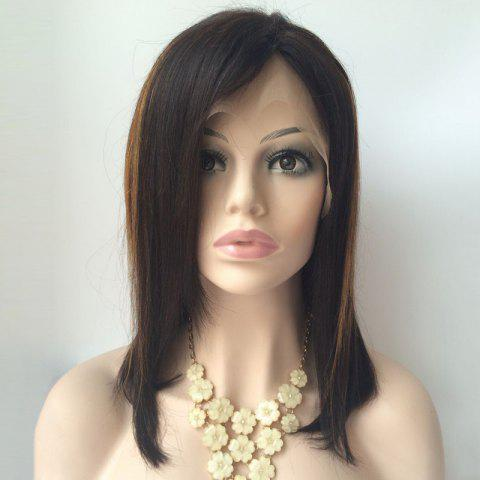 Buy Medium Side Parting Highlight Straight Lace Front Human Hair Wig