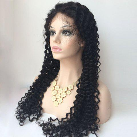 Outfits Curly Long Side Parting Lace Front Human Hair Wig