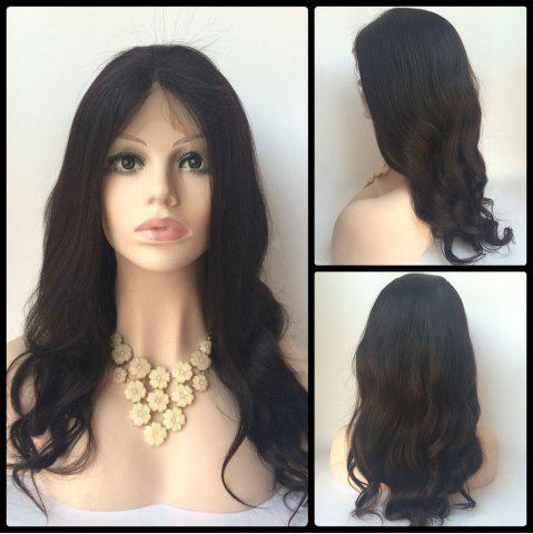 Affordable Centre Parting Long Body Wave Lace Front Human Hair Wig