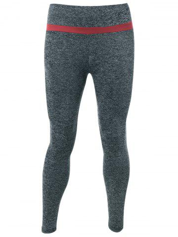 Latest Two-Toned Heather Sport Leggings GRAY ONE SIZE