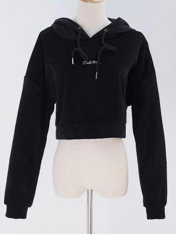 Outfit Cropped Pullover Velvet Hoodie