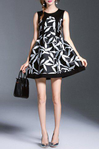 Back Zip Mini Print Dress