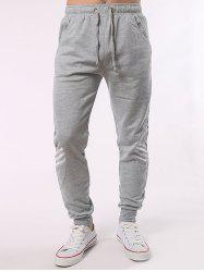 Stripe Paneled Eyelet Drawstring Jogger Pants