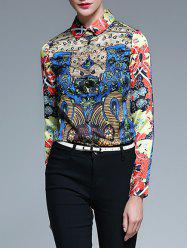Abstract Print Fitting Shirt -